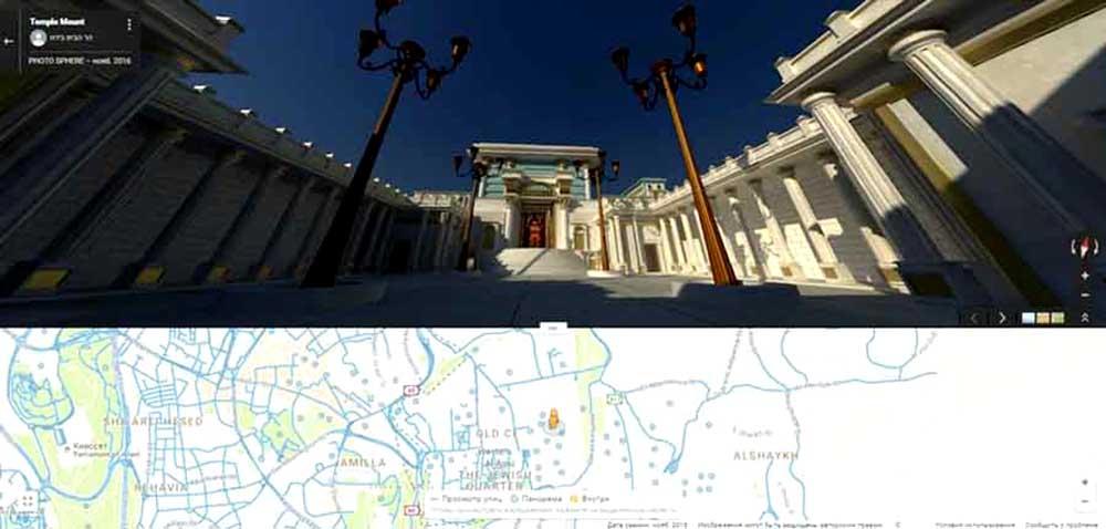 სოლომონის ტაძარი google-ს რუქაზე