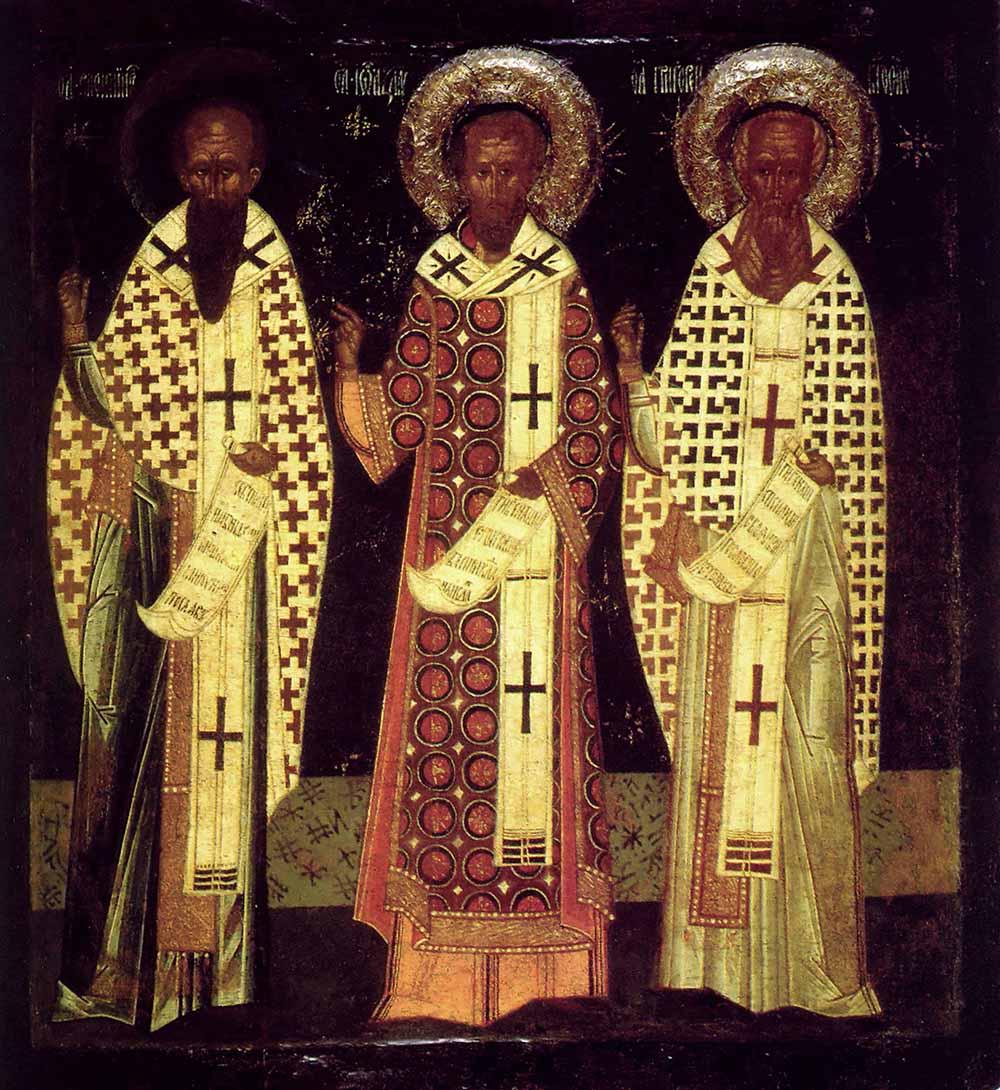 წმმ. ბასილი დიდი, იოანე ოქროპირი და გრიგოლ ღვთისმეტყველი