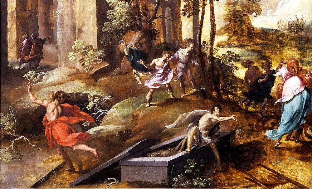 მკვდრის გაცოცხლება ელისე წინასწარმეტყველის საფლავში